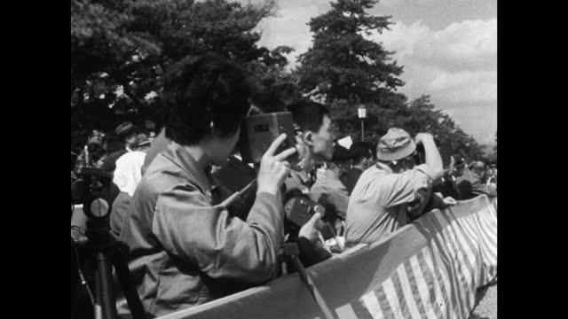 seq. jidai matsuri parade and spectators in kyoto; 1964 - participant stock videos & royalty-free footage