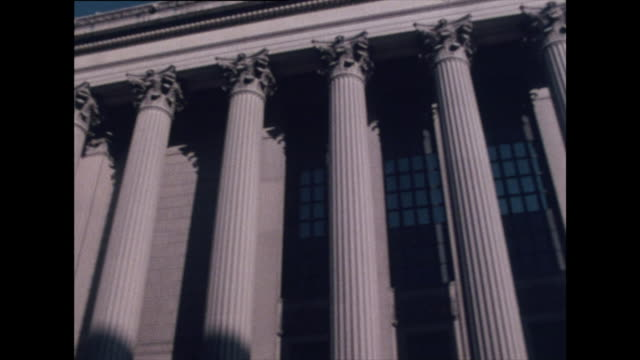 seq. of exterior shots of us supreme court; 1976 - courthouse stock videos & royalty-free footage