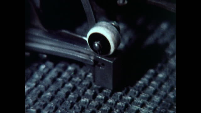 seq. of cu shots of chinese typewriter in use; 1973 - printing out stock videos & royalty-free footage
