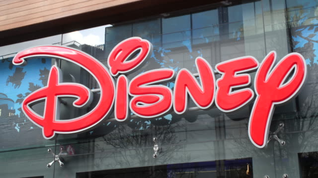 sequence across the exterior of the disney store on london's oxford street - disney stock videos and b-roll footage