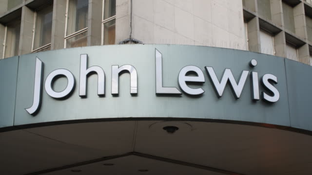 Sequence across the exterior of the John Lewis department store on London's Oxford Street