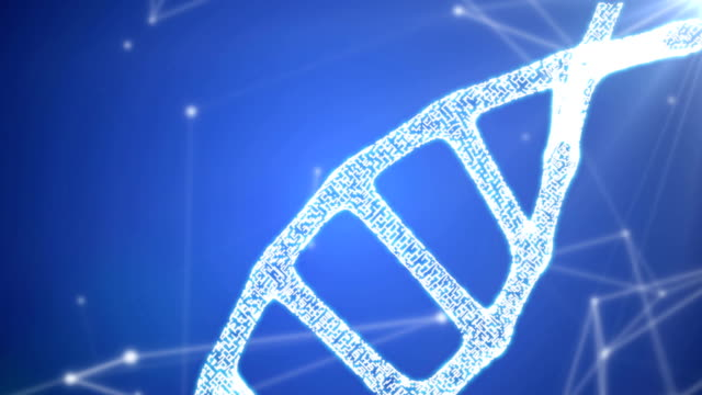 DNA sequence, DNA code structure with glow