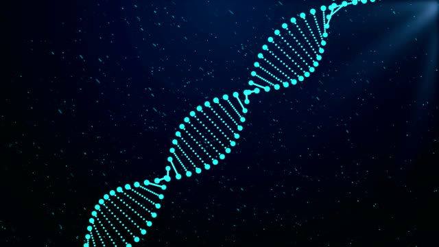 dna sequence, dna code structure with glow - dna stock videos & royalty-free footage