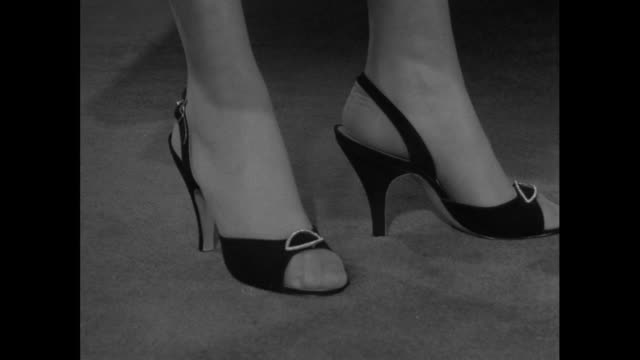 sequence high heeled shoes; 1956 - human leg stock videos & royalty-free footage