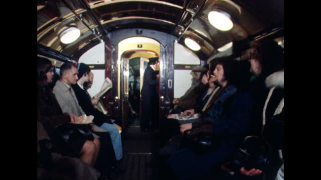 sequence inside one of the carriages on glasgow's original underground railway system - スコットランド グラスゴー点の映像素材/bロール