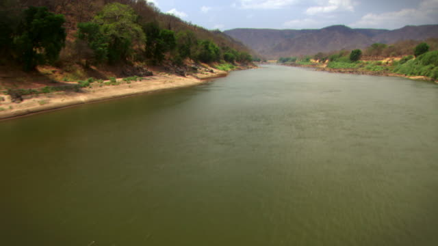 sequence of aerial shots over the blue nile in ethiopia.  - ethiopia stock videos and b-roll footage