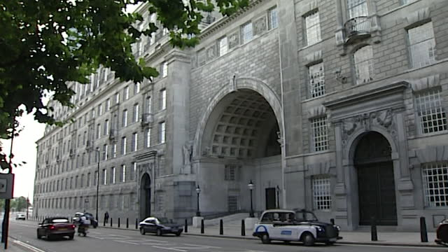 sequence of exterior shots of thames house, the headquarters of mi5 in london; 14th september, 2001. - intelligence stock videos & royalty-free footage