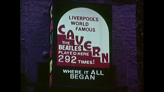 sequence of iconic liverpool locations in 1968 - liverpool england stock videos & royalty-free footage
