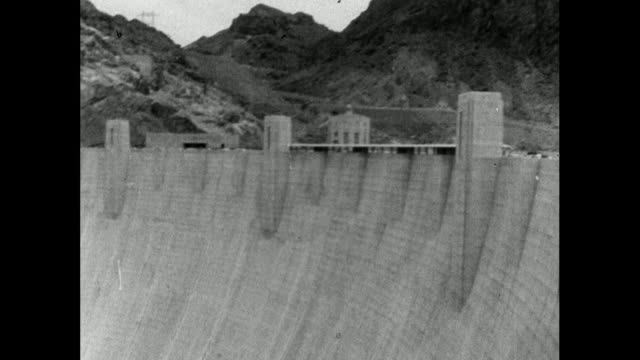 sequence of lake mead and hoover dam; 1964 - dam stock videos & royalty-free footage