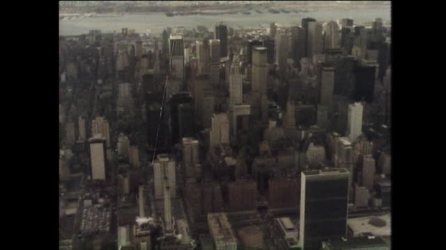 sequence of new york aerials incl. statue of liberty; 1975 - female likeness stock videos & royalty-free footage