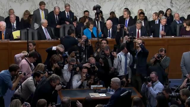 sequence of shots as the senate judiciary committee press and others gather for the first day of confirmation hearings on the nomination of judge... - court hearing stock videos & royalty-free footage