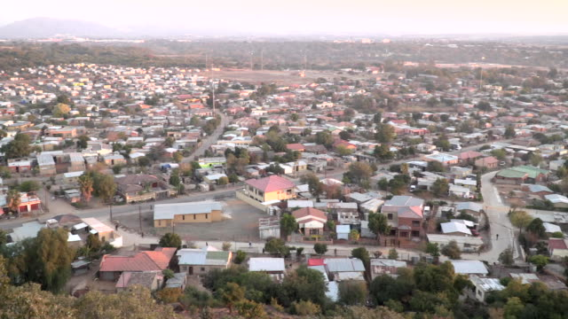 sequence of shots of township in south africa - population explosion stock videos & royalty-free footage