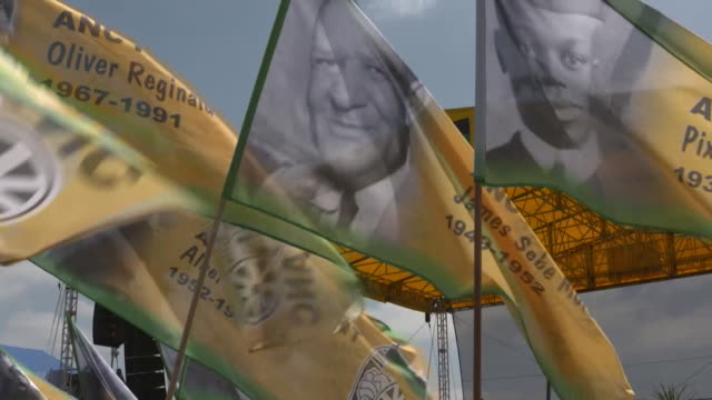 Sequence of the ANC party rally in East London South Africa