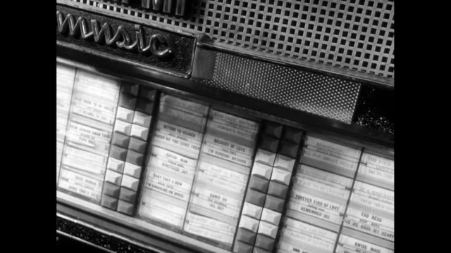 sequence of various b&w jukebox shots; 1963 - 1963 stock videos & royalty-free footage