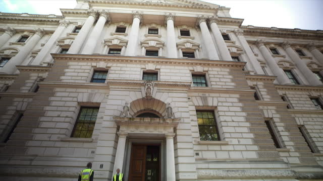 sequence of various gvs of downing street and whitehall, westminster - multiple image stock videos & royalty-free footage