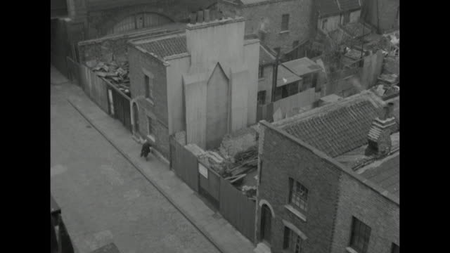sequence on tenement buildings in london's wapping district. - slum stock videos & royalty-free footage