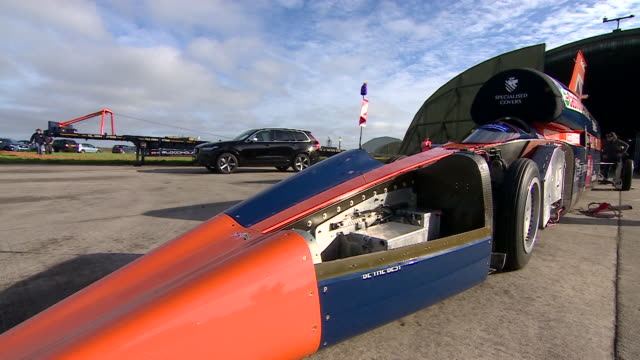 Sequence over sections of the Bloodhound supersonic car that hopes to break the land speed world record