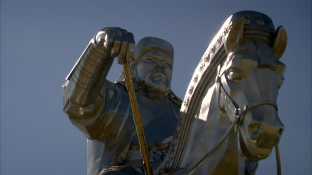 Sequence over the spectacular Genghis Khan Equestrian Statue in Mongolia.