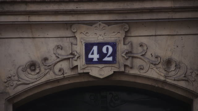 sequence showing 42 rue bonaparte former home of simone de beauvoir and jeanpaul sartre paris france rushes taken from bbccom/culture absa734n - philosopher stock videos & royalty-free footage