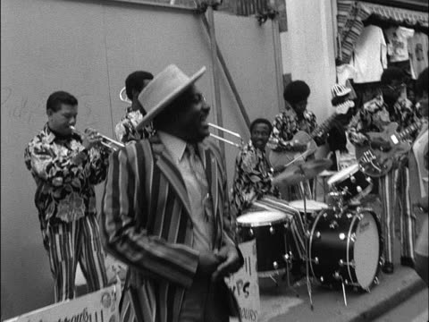 sequence showing a calypso band performing in carnaby street - calypso stock videos and b-roll footage