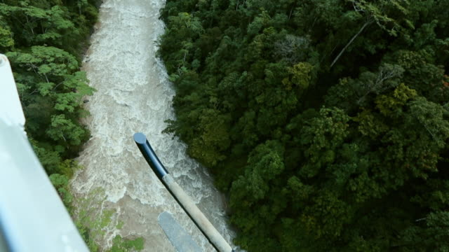 vídeos y material grabado en eventos de stock de sequence showing a helicopter flight over a remote part of the island of new guinea - the baliem river in the papua province of indonesia. - perspectiva desde un helicóptero