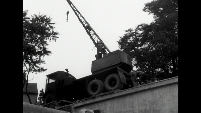 sequence showing a new concrete bridge being built near shrewsbury - bridge built structure stock videos and b-roll footage