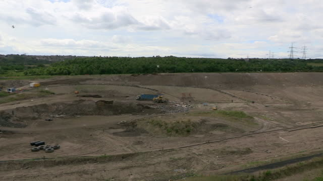 sequence showing a uk landfill site. - landfill stock videos & royalty-free footage