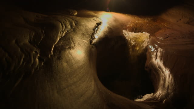 Sequence showing an underground river running through a Tepui mountain, creating a recently-discovered large network of caves, Venezuela.