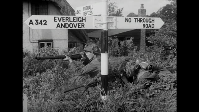 sequence showing british servicemen taking part in a mock war exercise near salisbury - military exercise stock videos & royalty-free footage