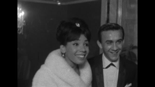 "sequence showing cecil parker, shirley bassey and henry cooper at the world premiere of peter seller's new film, ""waltz of the toreadors."" - actress stock videos & royalty-free footage"