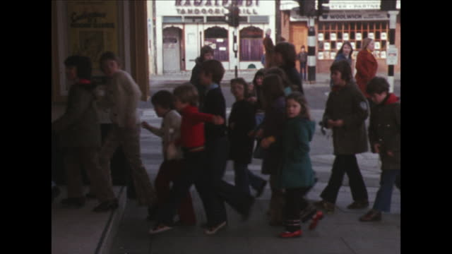 sequence showing children arriving at a cinema. - film industry stock videos & royalty-free footage