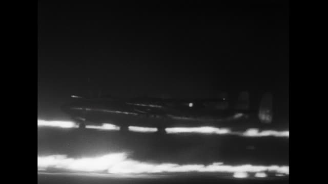 """sequence showing demonstration of the """"fido"""" fog dispersal system at blackbush airport that involves the use of paraffin and petrol burners set along... - fog stock videos & royalty-free footage"""