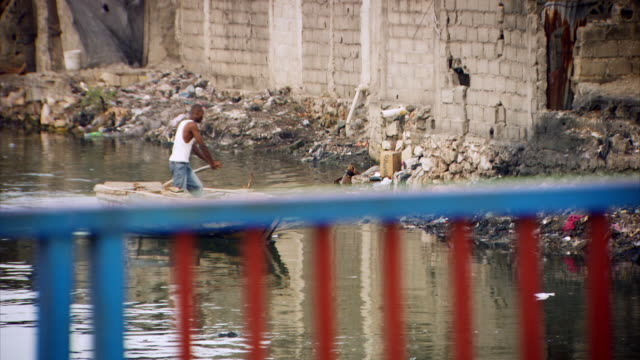 sequence showing everyday life in a town in haiti. - 平和維持点の映像素材/bロール