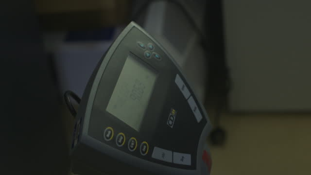 sequence showing handheld, close-up shots of weighing scales measuring in kilograms, uk. - mass unit of measurement stock videos and b-roll footage