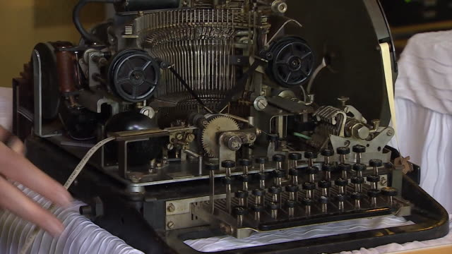 sequence showing many of the decoding machines used at bletchley park during world war ii - machinery stock videos & royalty-free footage