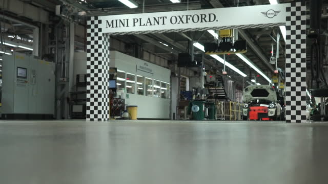 sequence showing mini car production at the bmw car plant in oxford - oxfordshire stock videos and b-roll footage