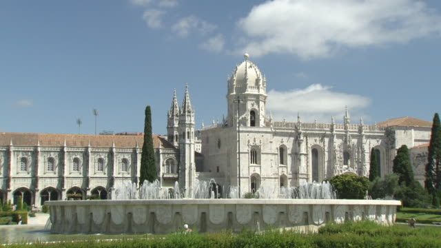 sequence showing mixed general views of lisbon, portugal. - mosteiro dos jeronimos stock videos and b-roll footage