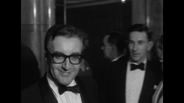 "sequence showing peter sellers arriving at the premiere of his new film, ""waltz of the toreadors."" - film premiere stock videos & royalty-free footage"