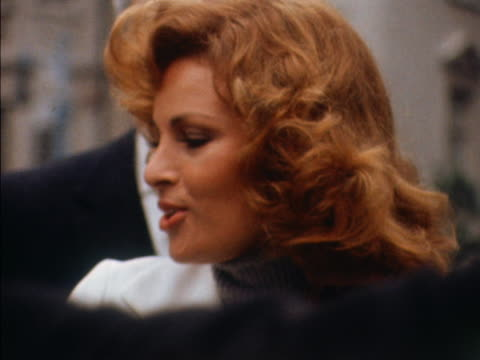 Sequence showing Raquel Welch and other cast members of the film The Three Musketeers posing for photographs outside the Dorchester Hotel