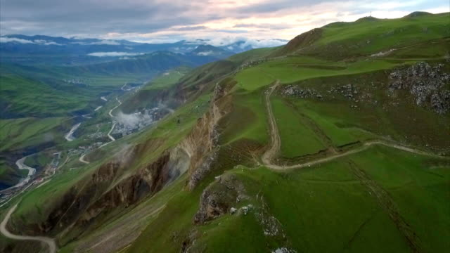 sequence showing roads in dagestan, russia. - caucasus stock videos and b-roll footage