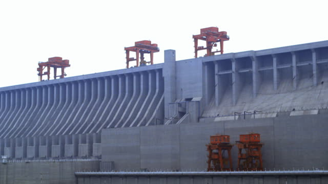 sequence showing sections of the three gorges dam in china.  - hydroelectric power stock videos & royalty-free footage