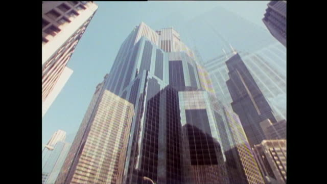 sequence showing skyscrapers in chicago; 1989 - willis tower stock videos & royalty-free footage