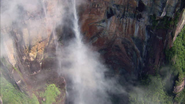 Sequence showing the Angel Falls in Venezuela.