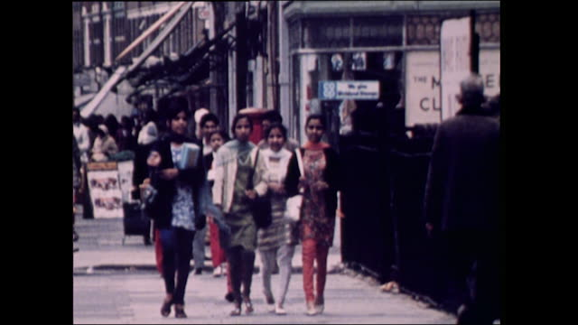 Sequence showing the Asian community in Southall London in the 1970's