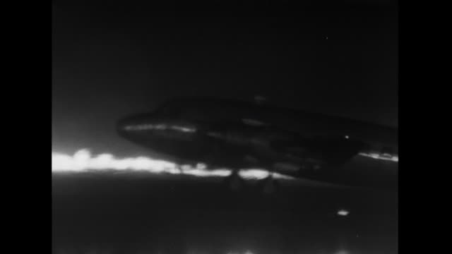 """sequence showing the demonstration of the """"fido"""" fog dispersal system at blackbush airport that involves the use of paraffin and petrol burners set... - fog stock videos & royalty-free footage"""