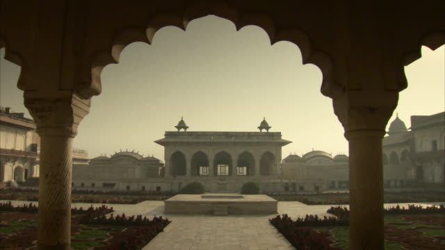 Sequence showing the Diwan-i-Am in Agra Fort, India.