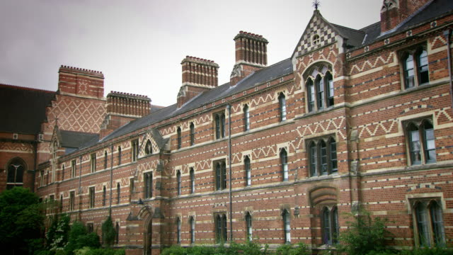 sequence showing the exterior architectural details of keble college, oxford. - oxford university stock videos & royalty-free footage