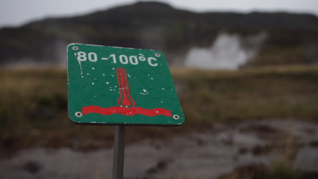 sequence showing the intense heat of underground thermal activity, iceland. - thermometer stock videos & royalty-free footage
