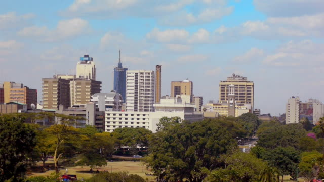vídeos y material grabado en eventos de stock de sequence showing views of central nairobi, kenya. - kenia