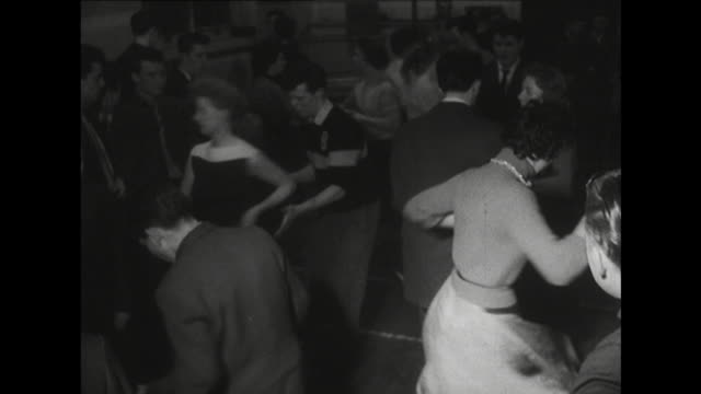 sequence showing young people rock and roll dancing - early rock & roll stock videos and b-roll footage